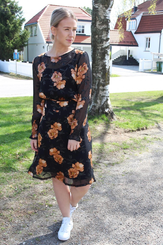 Just Female Antonia Skirt Orange Flower