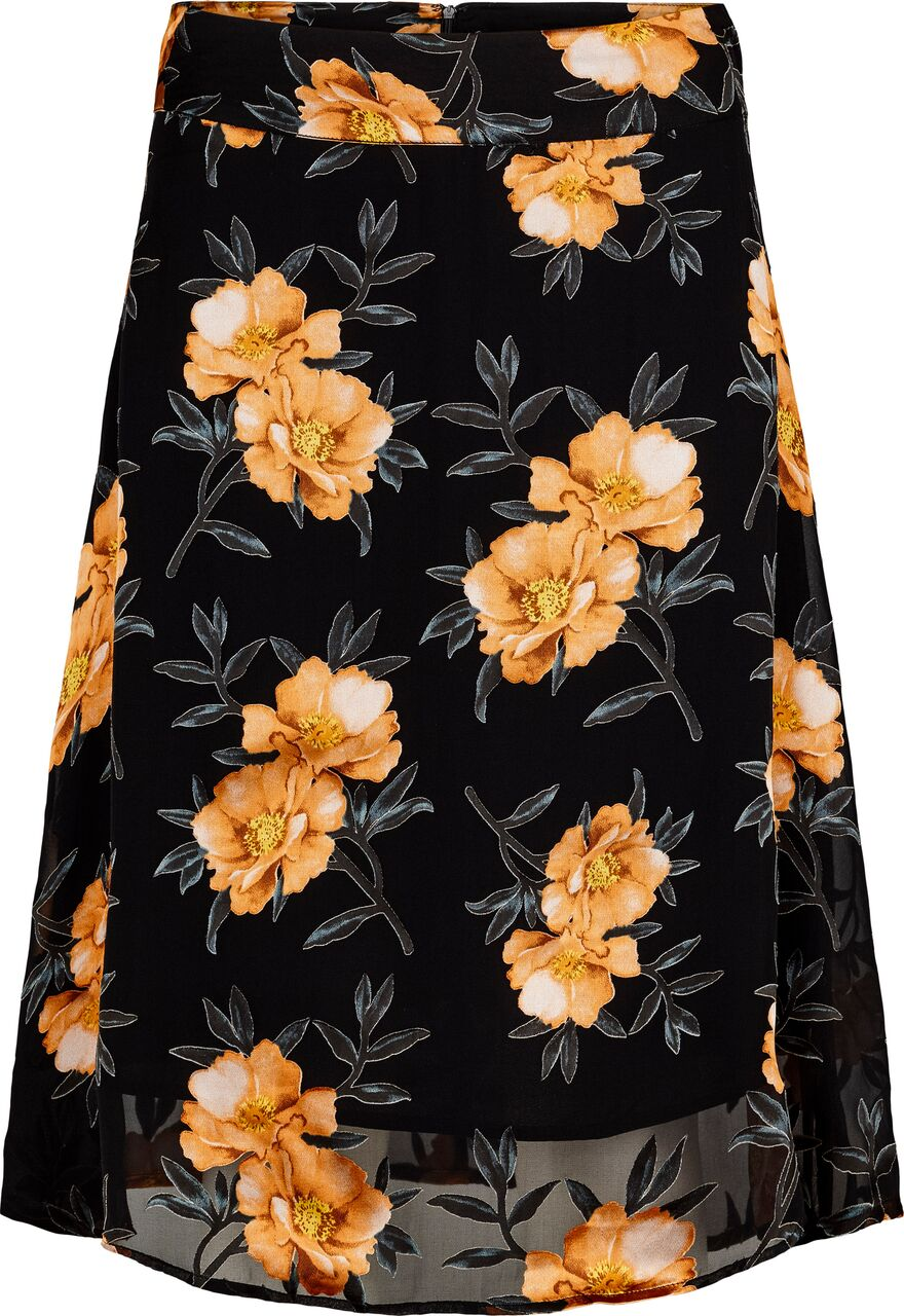 Just Female Antonia Skirt Orange Flower
