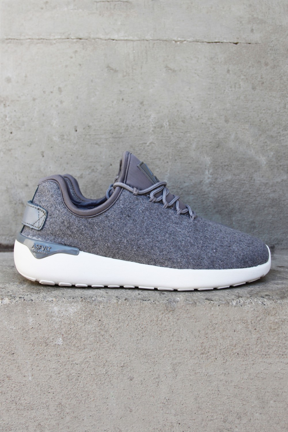 Asfvlt Speed Sock Grey Wool