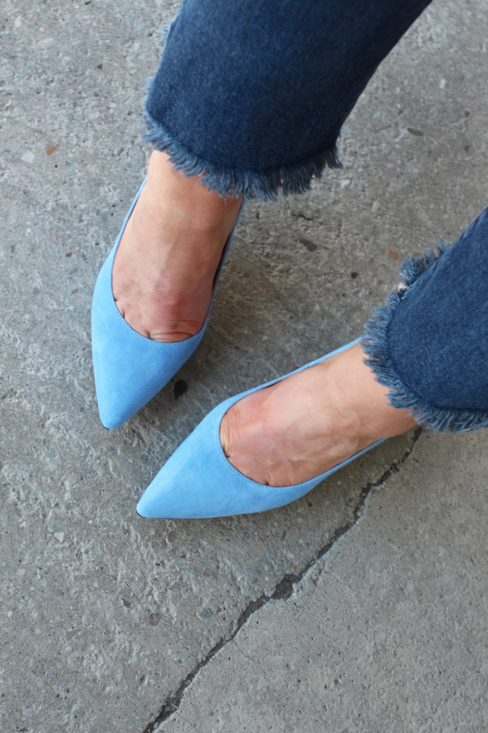 Front Society Shoes Light Blue Shoes