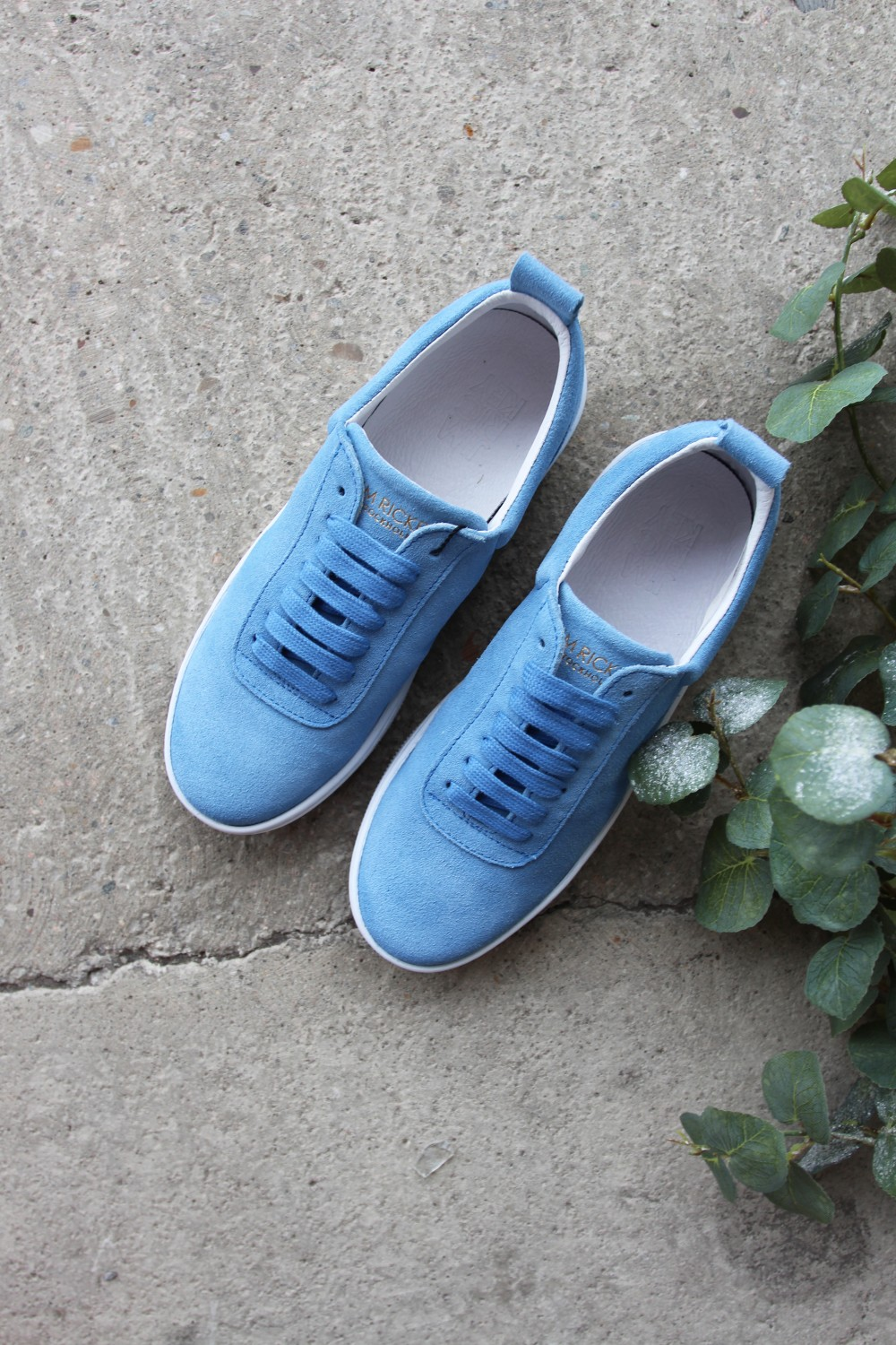 Jim Rickey Clip Suede Eden Blue