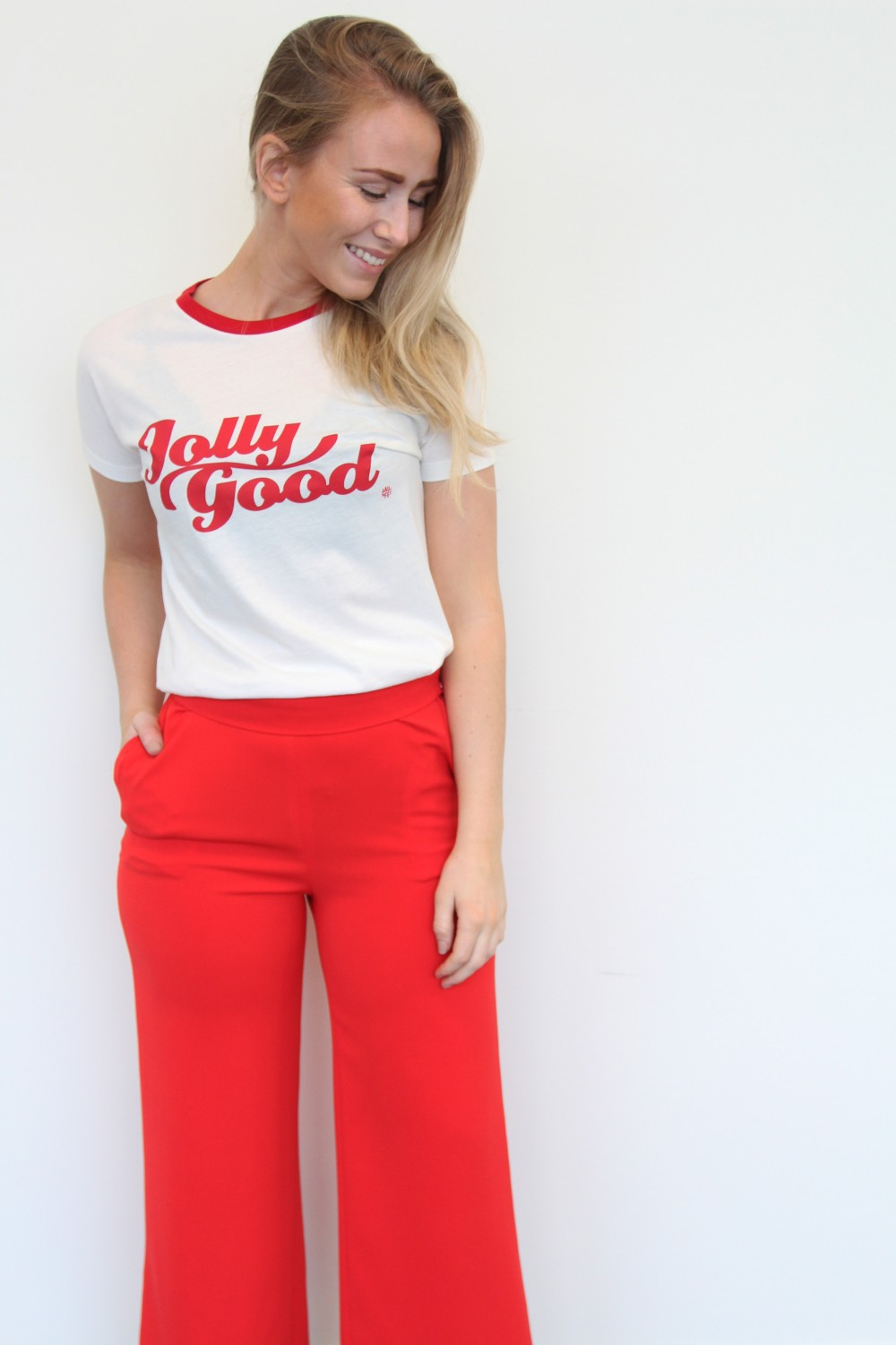 Billie & Me Justine Pants Tomato Red