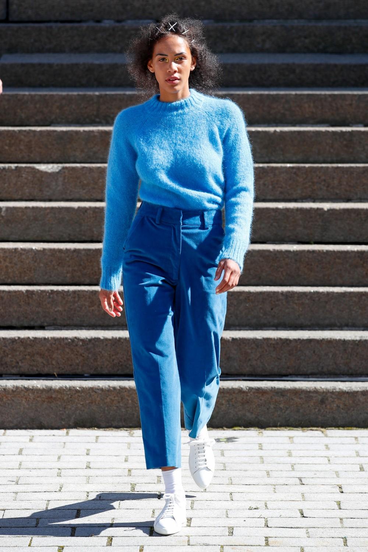 Iben Monty Sweater Spark Blue