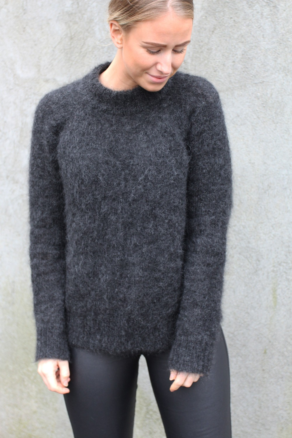 Iben Monty Sweater Dark Grey