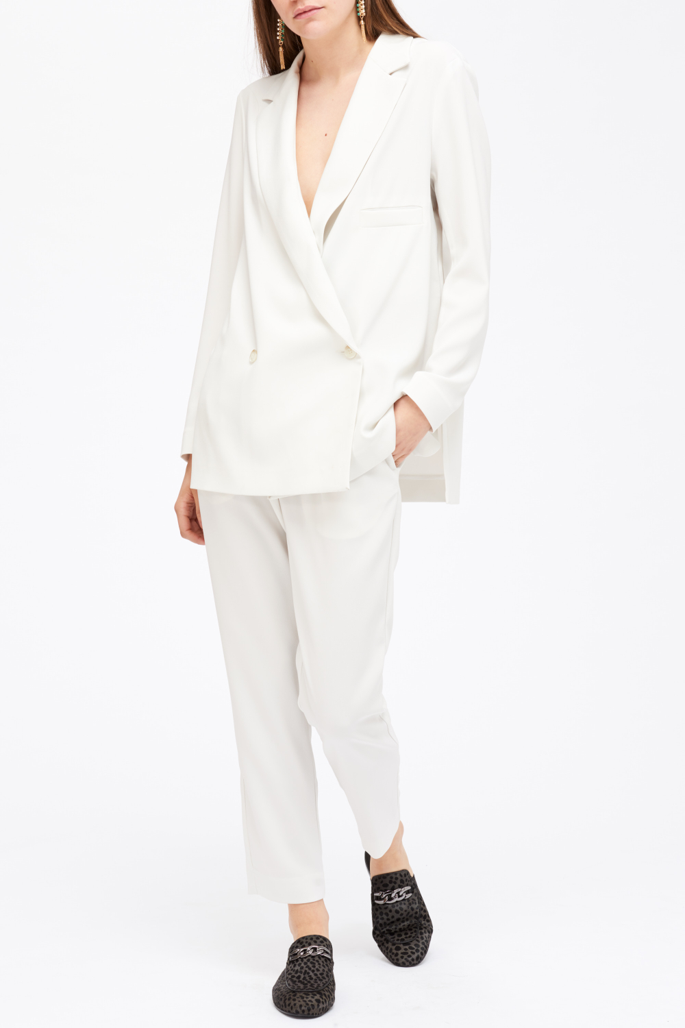 Billie & Me Lyn Blazer White