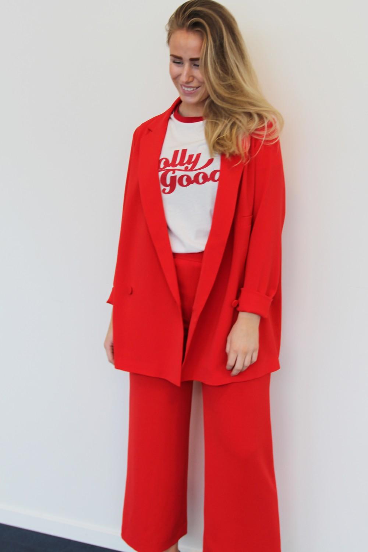 Billie & Me Eugenie Jacket Tomato Red