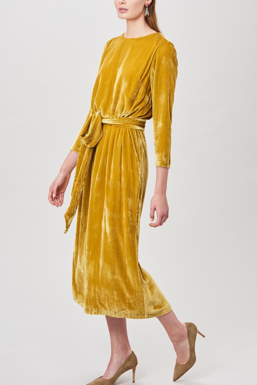 Billie & Me Gia Velvet Dress Gold