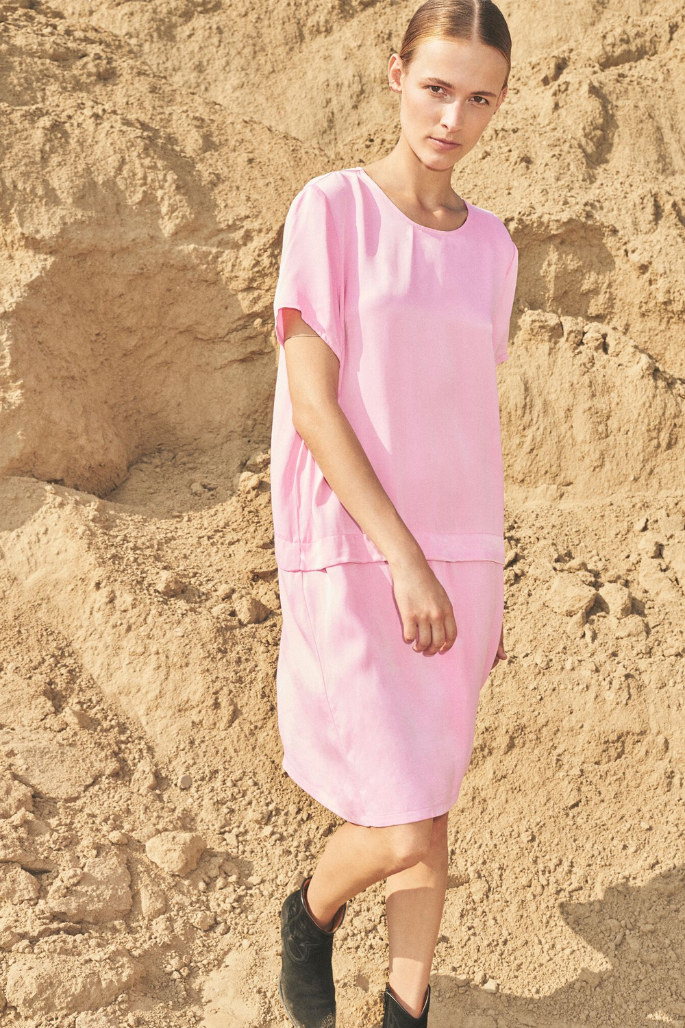 Just Female Fusion Dress Pink