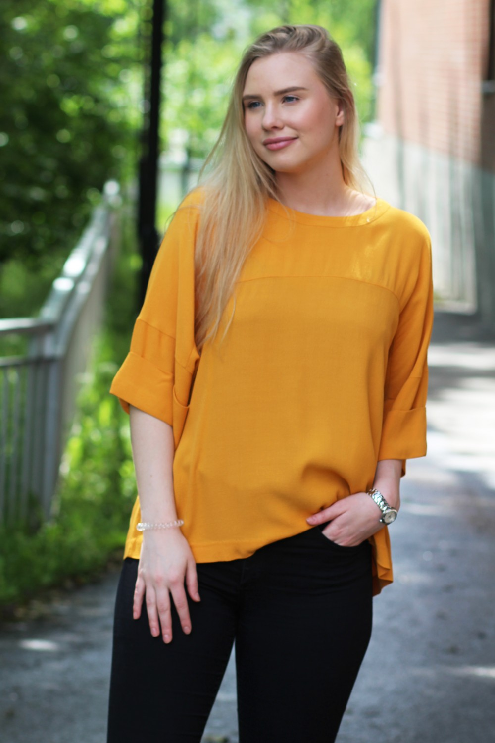 Just Female Maise Sunflower Blouse