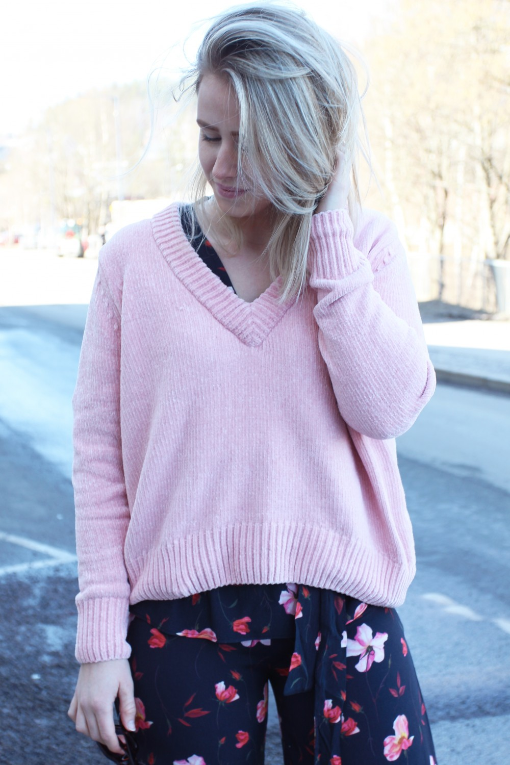 Just Female Velvet Knit Pink