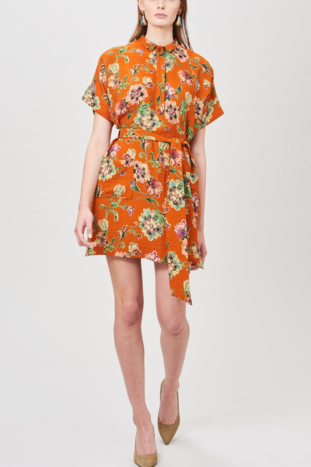 Billie & Me Week Short Dress Orange Dahlia