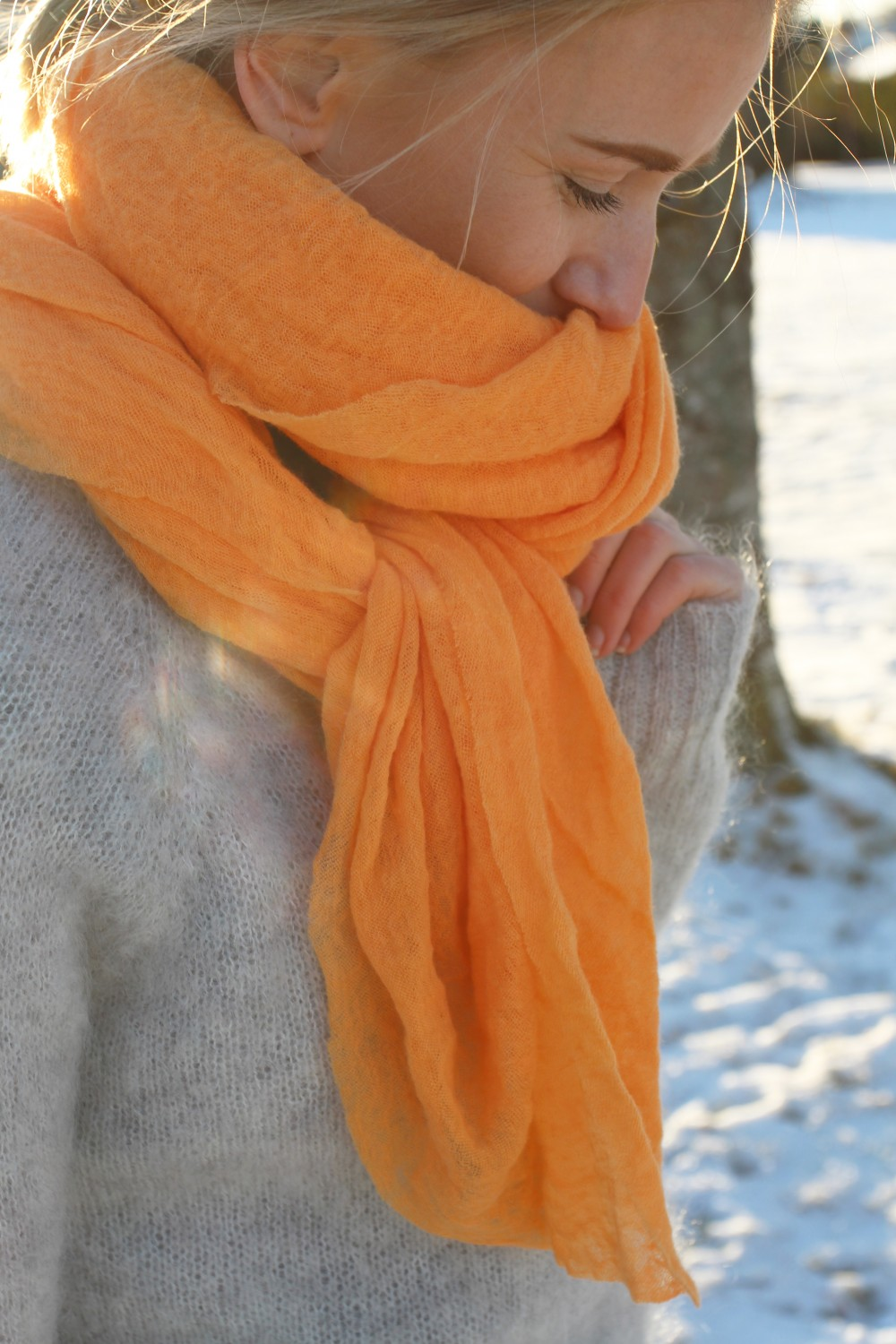 NATURA Cashmere Luxury L Orange